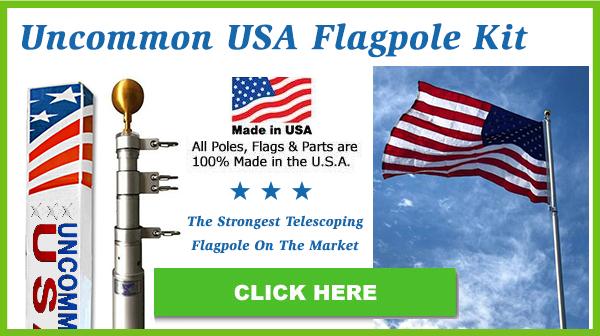Uncommon Heavy-Duty Telescoping Flagpole