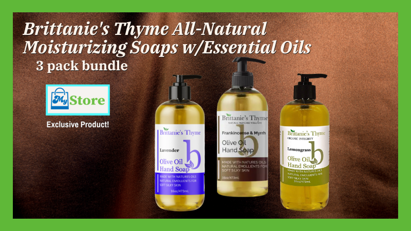 Brittanie's Thyme All-Natural Olive Oil Handsoap 3 Pack