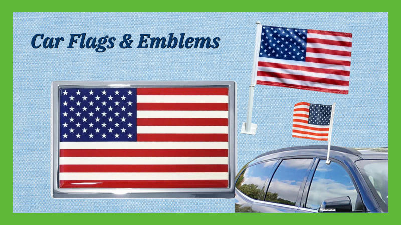 Car Flags And Emblems