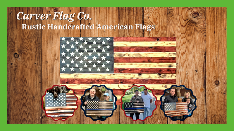 Rustic Handcrafted American Flags