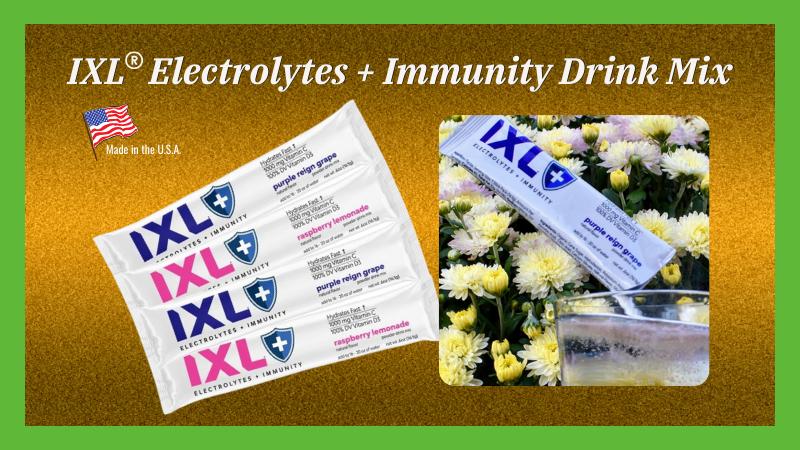 IXL® Electrolytes + Immunity Drink Mix