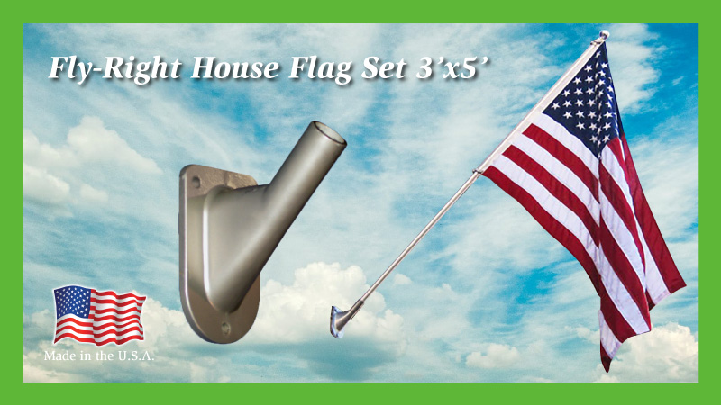 Fly-Right House Flag Set 3x5