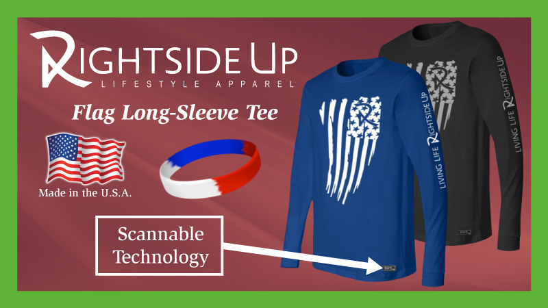 Flag Long Sleeve Rightside Up Apparel