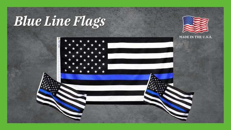 3 x 5 Thin Blue Line US Flag