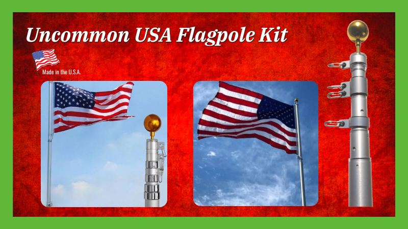 Uncommon Heavy-Duty Telescoping Flagpole