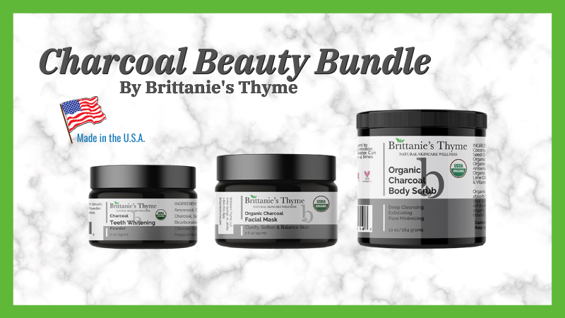 Brittanie's Thyme Organic Charcoal Beauty Bundle